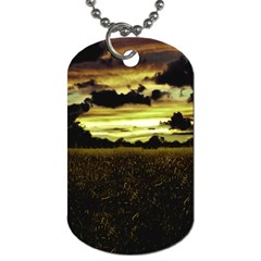 Dark Meadow Landscape  Dog Tag (one Sided) by dflcprints