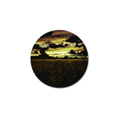 Dark Meadow Landscape  Golf Ball Marker