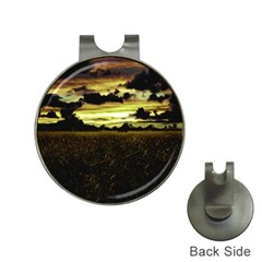 Dark Meadow Landscape  Hat Clip With Golf Ball Marker by dflcprints