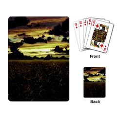 Dark Meadow Landscape  Playing Cards Single Design by dflcprints