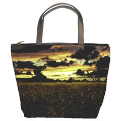 Dark Meadow Landscape  Bucket Handbag