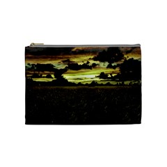 Dark Meadow Landscape  Cosmetic Bag (medium) by dflcprints