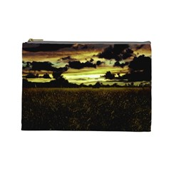 Dark Meadow Landscape  Cosmetic Bag (large) by dflcprints