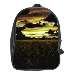 Dark Meadow Landscape  School Bag (large) by dflcprints