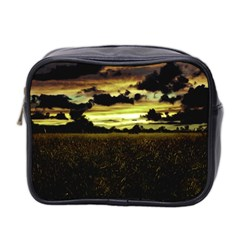 Dark Meadow Landscape  Mini Travel Toiletry Bag (two Sides)