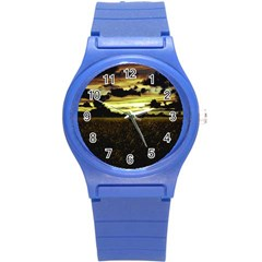 Dark Meadow Landscape  Plastic Sport Watch (small)