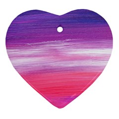 Abstract In Pink & Purple Heart Ornament by StuffOrSomething