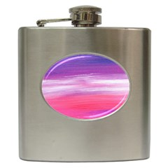 Abstract In Pink & Purple Hip Flask