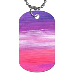 Abstract In Pink & Purple Dog Tag (two Sided)  by StuffOrSomething
