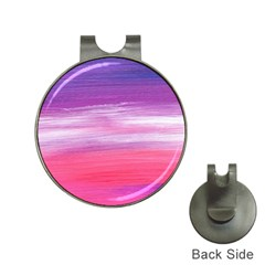 Abstract In Pink & Purple Hat Clip With Golf Ball Marker by StuffOrSomething