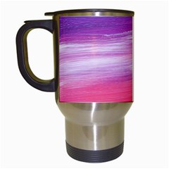 Abstract In Pink & Purple Travel Mug (white) by StuffOrSomething