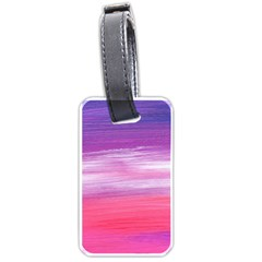 Abstract In Pink & Purple Luggage Tag (two Sides) by StuffOrSomething