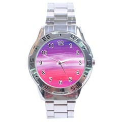 Abstract In Pink & Purple Stainless Steel Watch by StuffOrSomething