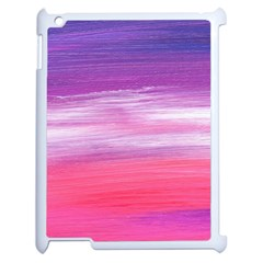 Abstract In Pink & Purple Apple Ipad 2 Case (white) by StuffOrSomething