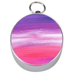Abstract In Pink & Purple Silver Compass