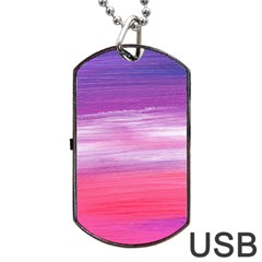 Abstract In Pink & Purple Dog Tag Usb Flash (two Sides) by StuffOrSomething