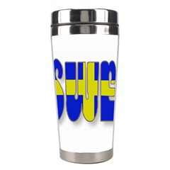 Flag Spells Sweden Stainless Steel Travel Tumbler by StuffOrSomething