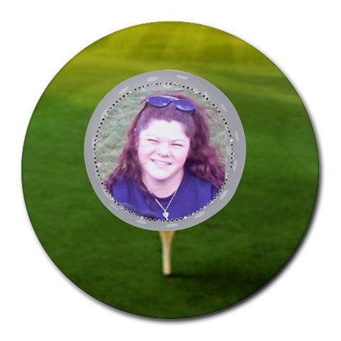 Golf Collage Round Mousepad By Kim Blair   Collage Round Mousepad   N2b5zdzyovgp   Www Artscow Com 8 x8 Round Mousepad - 1
