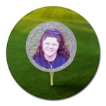 Golf Collage Round Mousepad