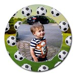 Soccer Collage Round Mousepad