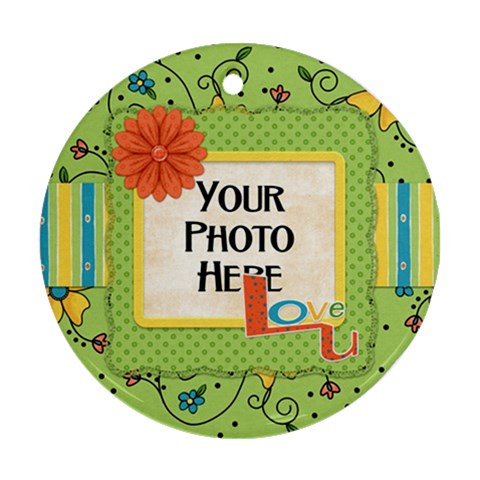 Ornament Fanciful Fun 2 By Lisa Minor   Ornament (round)   Xnzrdycv3k0c   Www Artscow Com Front