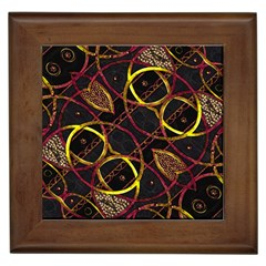 Luxury Futuristic Ornament Framed Ceramic Tile by dflcprints