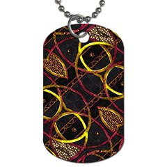 Luxury Futuristic Ornament Dog Tag (one Sided) by dflcprints