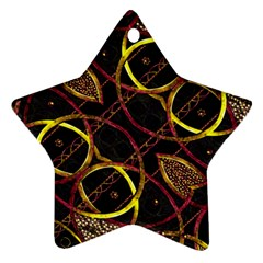 Luxury Futuristic Ornament Star Ornament (two Sides) by dflcprints