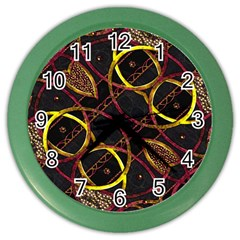 Luxury Futuristic Ornament Wall Clock (color) by dflcprints