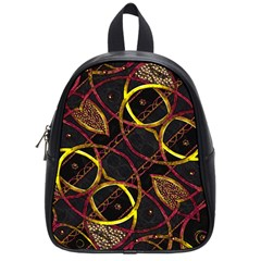 Luxury Futuristic Ornament School Bag (small)