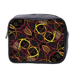 Luxury Futuristic Ornament Mini Travel Toiletry Bag (two Sides)