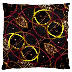 Luxury Futuristic Ornament Large Cushion Case (two Sided)