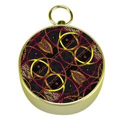 Luxury Futuristic Ornament Gold Compass