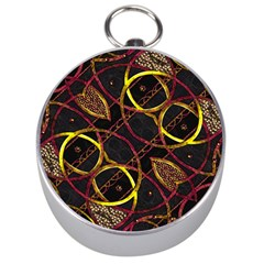 Luxury Futuristic Ornament Silver Compass by dflcprints