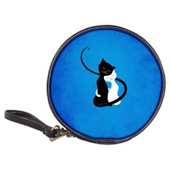 Blue White And Black Cats In Love Cd Wallet