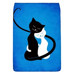 Blue White And Black Cats In Love Removable Flap Cover (large) by CreaturesStore