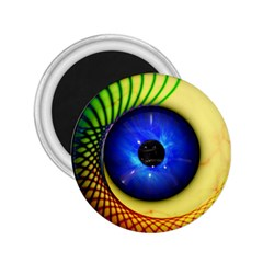 Eerie Psychedelic Eye 2 25  Button Magnet by StuffOrSomething