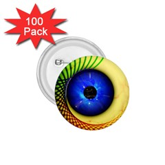 Eerie Psychedelic Eye 1 75  Button (100 Pack) by StuffOrSomething