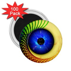 Eerie Psychedelic Eye 2 25  Button Magnet (100 Pack) by StuffOrSomething