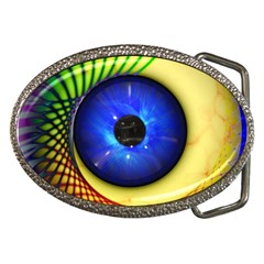 Eerie Psychedelic Eye Belt Buckle (oval) by StuffOrSomething