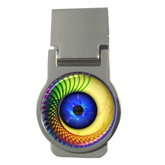 Eerie Psychedelic Eye Money Clip (round) by StuffOrSomething