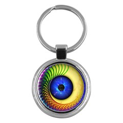 Eerie Psychedelic Eye Key Chain (round) by StuffOrSomething