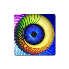 Eerie Psychedelic Eye Magnet (square) by StuffOrSomething