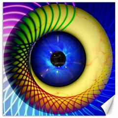 Eerie Psychedelic Eye Canvas 20  X 20  (unframed) by StuffOrSomething