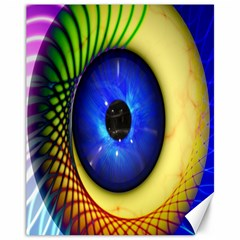 Eerie Psychedelic Eye Canvas 11  X 14  (unframed) by StuffOrSomething