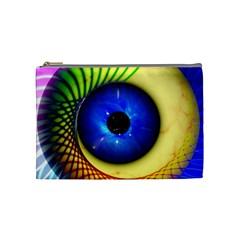 Eerie Psychedelic Eye Cosmetic Bag (medium) by StuffOrSomething