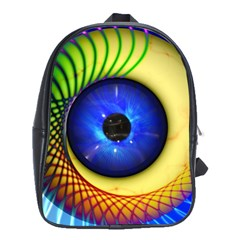 Eerie Psychedelic Eye School Bag (large) by StuffOrSomething