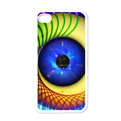 Eerie Psychedelic Eye Apple Iphone 4 Case (white) by StuffOrSomething