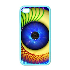 Eerie Psychedelic Eye Apple Iphone 4 Case (color) by StuffOrSomething