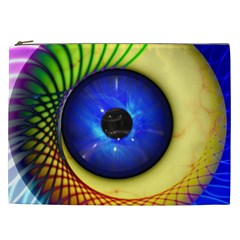 Eerie Psychedelic Eye Cosmetic Bag (xxl) by StuffOrSomething